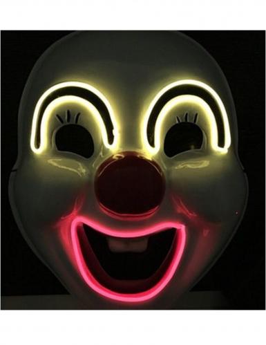 Hochwertige LED-Clownmaske für Erwachsene Halloween bunt-1