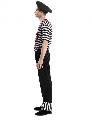 Pantomime-Kostüm für Herren Karnevals-Verkleidung schwarz-weiss-1