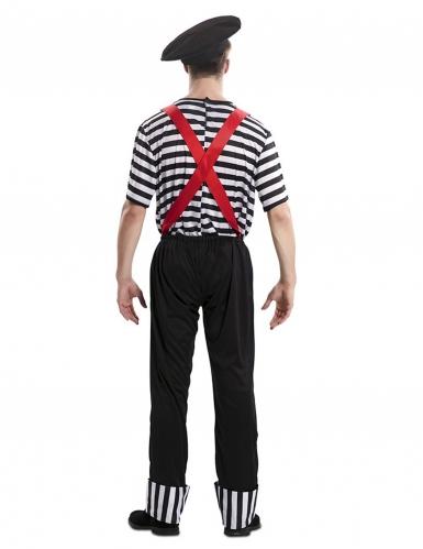 Pantomime-Kostüm für Herren Karnevals-Verkleidung schwarz-weiss-2