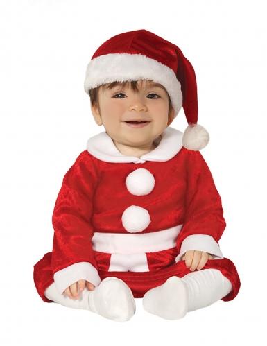 Kleiner Weihnachtsmann Kleinkindkostüm für Weihnachten rot-weiss