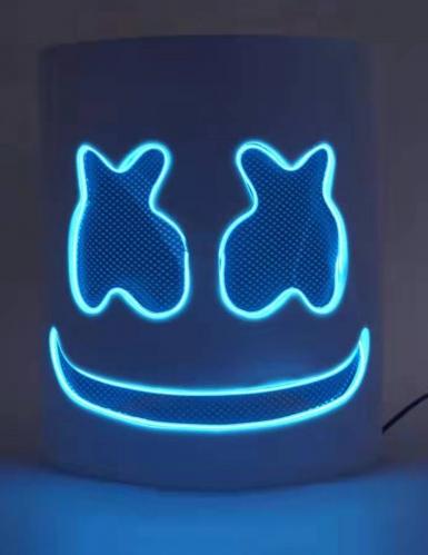 Auffällige LED-Maske für Fasching DJ-Zubehör blau