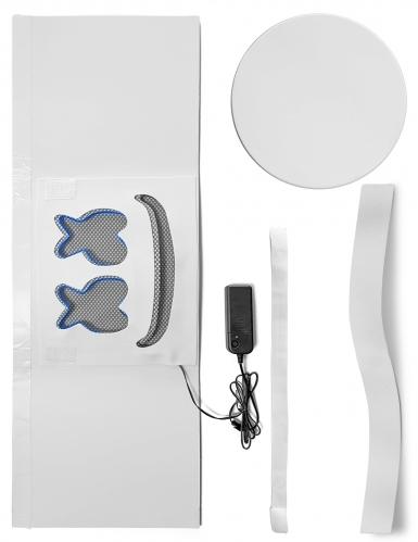 Auffällige LED-Maske für Fasching DJ-Zubehör blau-1