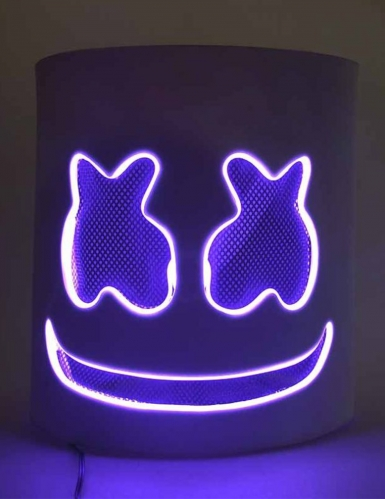 Leuchtende LED-Maske DJ Festival-Accessoire violett