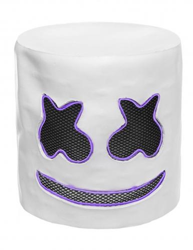 Leuchtende LED-Maske DJ Festival-Accessoire violett-3