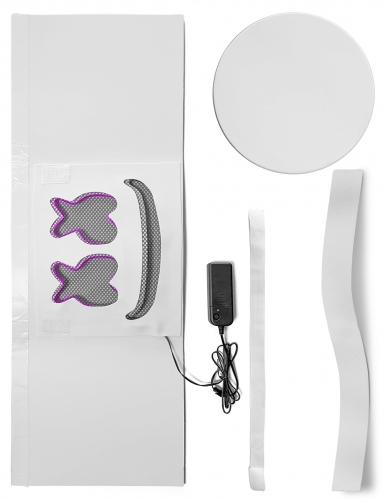Leuchtende LED-Maske DJ Festival-Accessoire violett-1