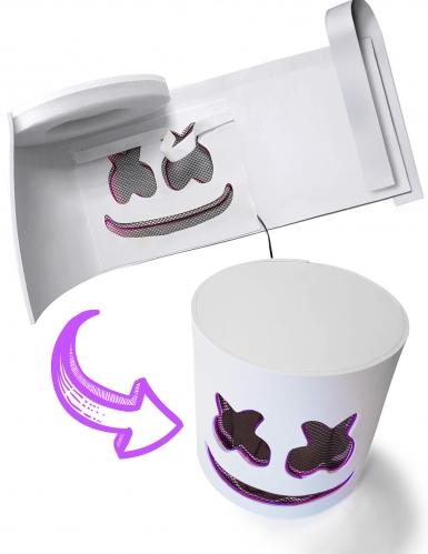 Leuchtende LED-Maske DJ Festival-Accessoire violett-2