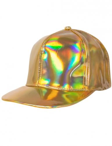 Baseball-Mütze Accessoire für Damen schimmernd goldfarben -1