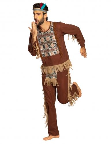 Indianer-Kostüm für Herren Wilder Westen Karnevalskostüm braun-beige