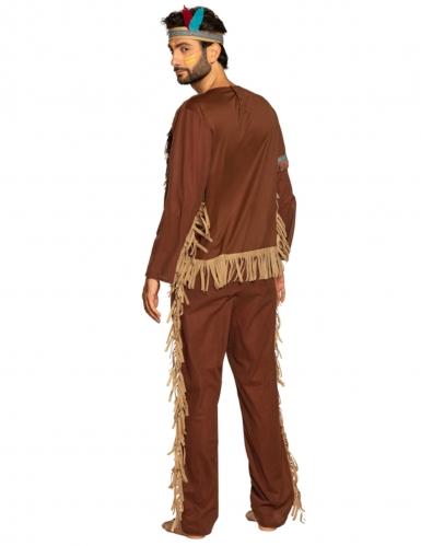 Indianer-Kostüm für Herren Wilder Westen Karnevalskostüm braun-beige-1