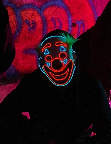 LED-Clownmaske für Fasching und Halloween bunt-2