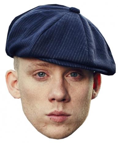 Schauspieler-Pappmaske für Erwachsene Film & Fernsehen beige-blau