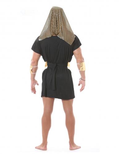 Antikes Pharao-Kostüm für Herren Karnevals-Verkleidung schwarz-goldfarben-1