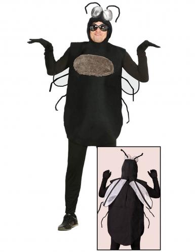 Lustiges Fliegen-Kostüm für Herren Karnevals-Verkleidung schwarz