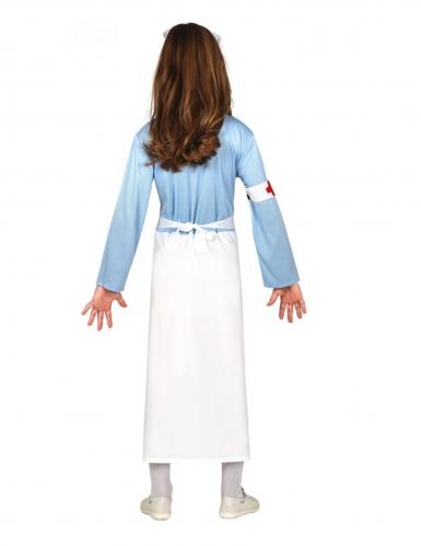 Liebevolles Krankenschwester-Kostüm für Mädchen weiss-blau-1