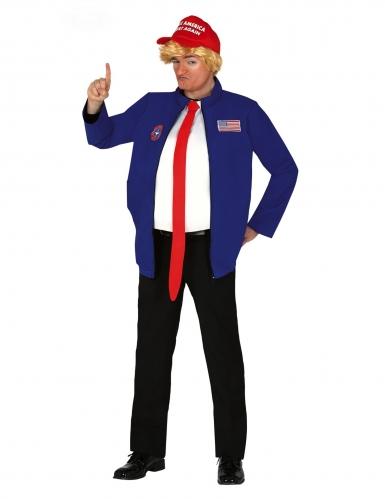 Mr. Präsident Herrenkostüm für Karneval blau-weiss-rot