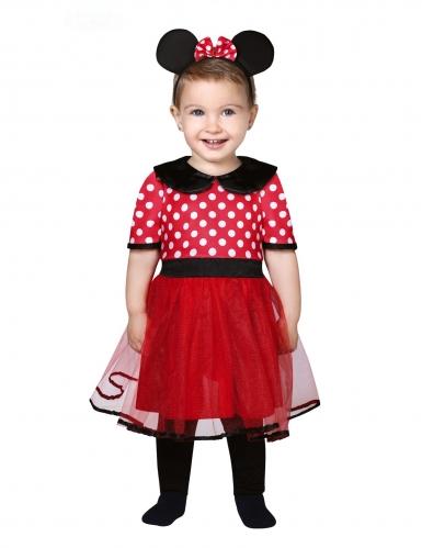 Kultmaus-Kostüm für Kleinkinder Karnevals-Verkleidung schwarz-rot-weiss