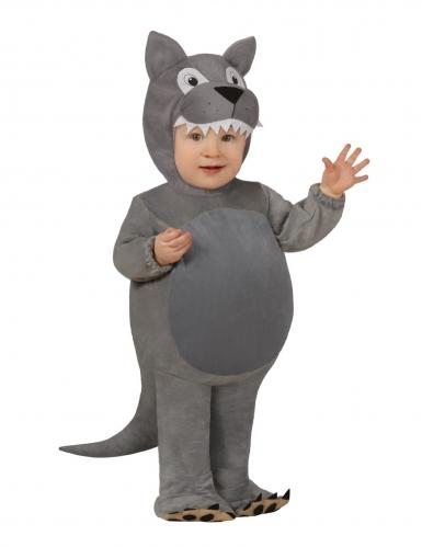 Baby-Wolfkostüm Tier-Verkleidung für Karneval grau