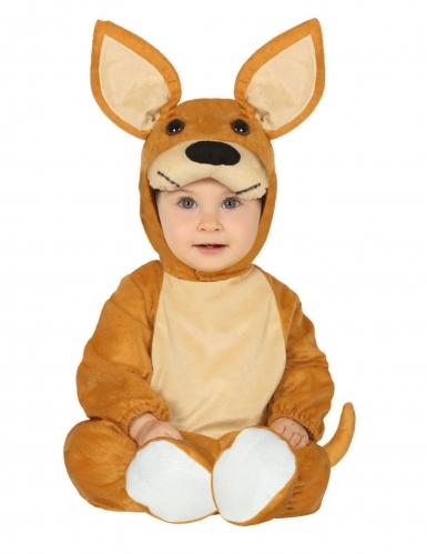 Süßes Känguru-Babykostüm für Karneval Tier-Verkleidung braun-beige