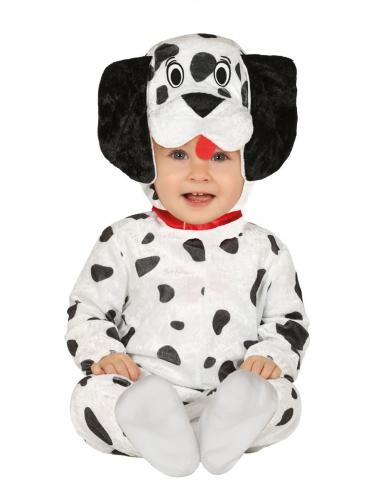 Dalmatiner-Babykostüm für Karneval Tier-Overall schwarz-weiss