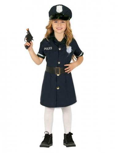 Polizistinnen-Kostüm für Mädchen Karneval-Verkleidung blau-schwarz