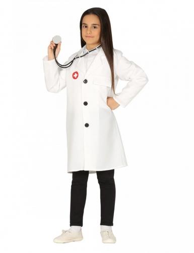 Krankenschwester-Kostüm für Mädchen Ärztin weiss-rot