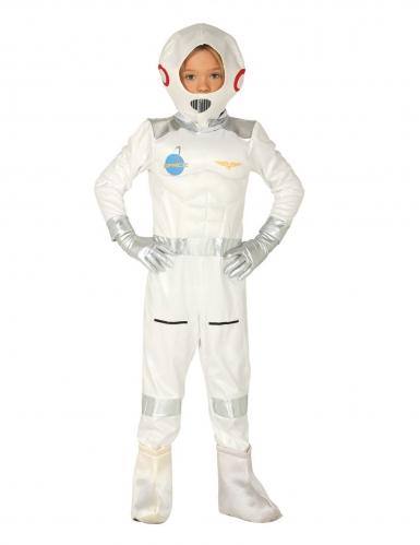 Astronauten-Kinderkostüm Weltall-Overall Karneval weiss
