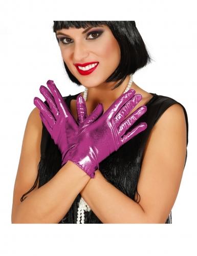 Handschuhe für Damen 20er-Jahre-Stil Kostümzubehör lila