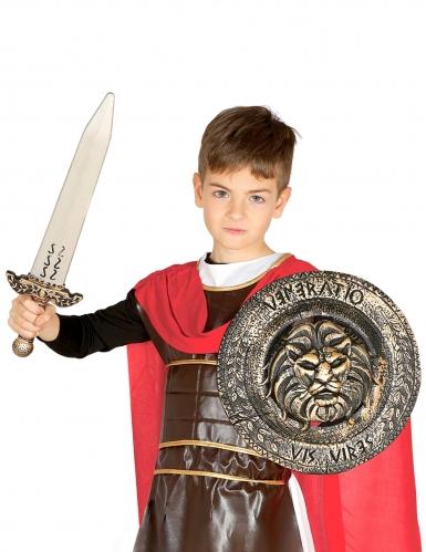 Gladiatoren-Set für Kinder Schwert und Schild bronzefarben