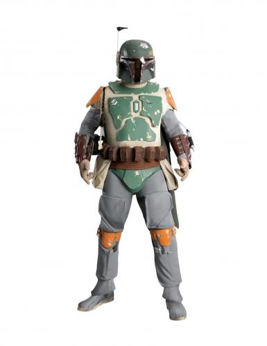 Boba Fett™-Kostüm für Herren Collectors Edition Faschingskostüm grün-grau-orange