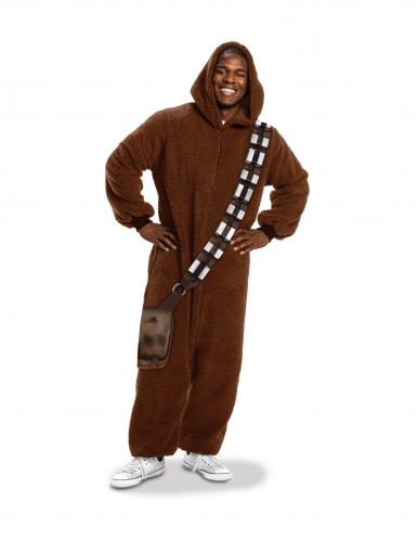 Chewbacca™-Kostüm Overall für Erwachsene Fasching braun-1