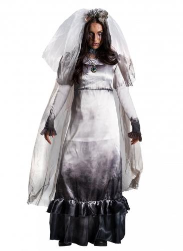 Lloronas Fluch™ Damenkostüm Lizenzkostüm grau-schwarz