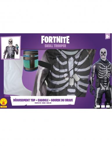 Skull-Trooper™-Kostüm Fortnite™ für Kinder und Jugendliche schwarz-weiß-3