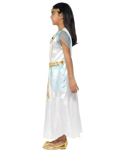 Kleopatra-Kostüm für Kinder weiss-gold-1