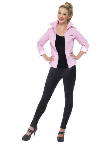 Pink-Ladies™-Jacke deluxe Grease™-Kostüm für Damen rosa