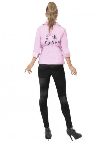 Pink-Ladies™-Jacke deluxe Grease™-Kostüm für Damen rosa-1