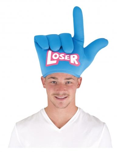 Humorvoller Loser-Hut Kostüm-Accessoire für Erwachsene USA-Party blau