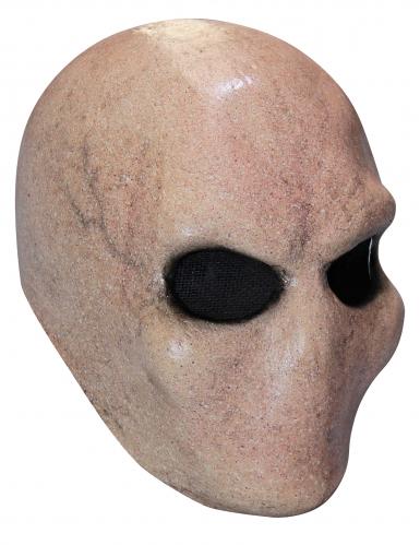 Alienmaske für Erwachsene Halloween-Maske beigefarben-schwarz