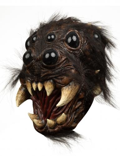 Gruselige Spinnenkopf-Maske für Erwachsene schwarz-braun
