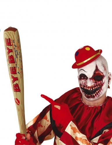 Baseballschläger aufblasbar Horrorclwon-Accessoire braun-rot 75 cm