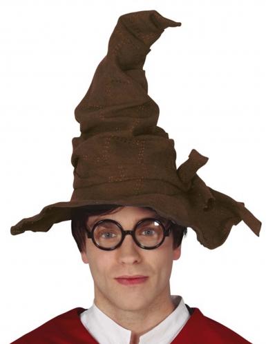 Zauberer-Hut Halloween-Accessoire für Erwachsene braun