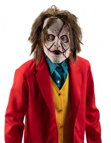 Clown-Maske Filmstar für Erwachsene Halloween-Accessoire grün-weiss