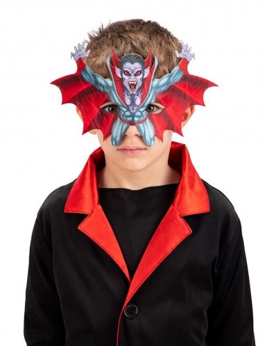 Schaurige Vampir-Maske für Kinder Halloween-Zubehör bunt