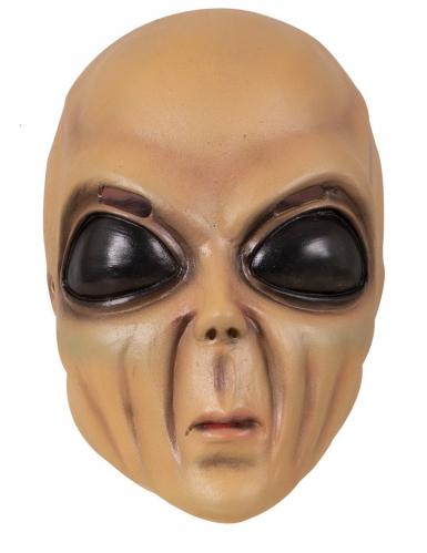 Galaktische Alien-Maske Accessoire beigefarben-schwarz
