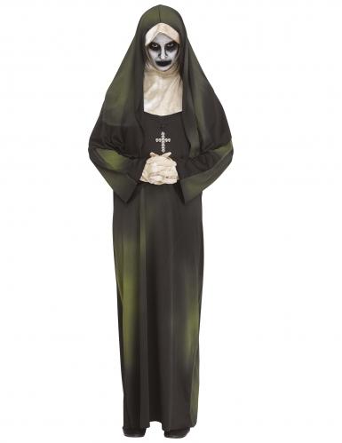 Besessene-Nonne Halloween-Kostüm teuflische-Nonne schwarz-grün-weiss