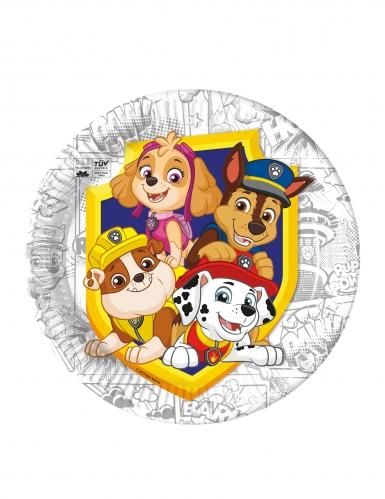 Paw Patrol™-Pappteller für Kinder und Geburtstage Tischzubehör 8 Stück bunt 23 cm