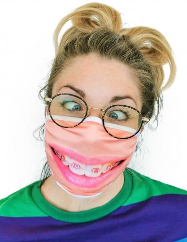 Gesichtsmaske mit Zahnspange Maske für den Alltag beigefarben