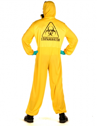 Strahlenschutzanzug Kostüm für Erwachsene Halloween gelb-hellblau-1