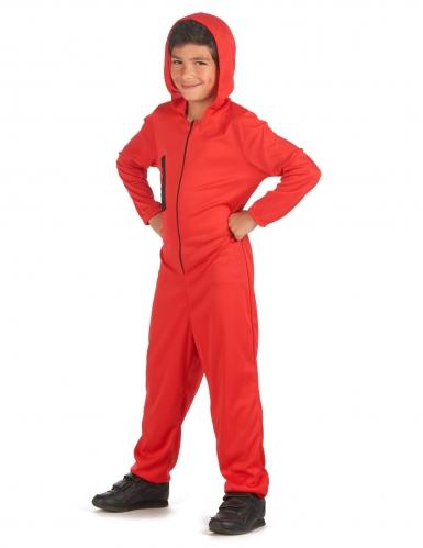 Bankräuber-Kostüm für Kinder Film-Figur rot-schwarz-1