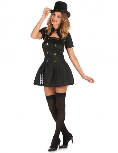 Schornsteinfeger-Kostüm für Damen Beruf-Kostüm schwarz