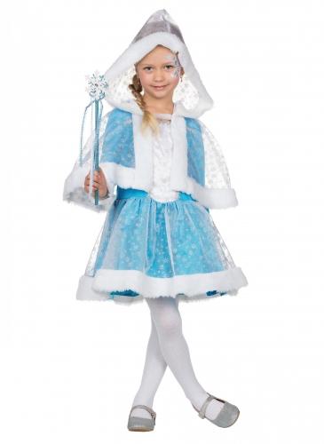 Zauberhafte Eisprinzessin Kinderkostüm für Mädchen Fasching blau-weiss